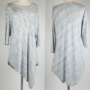 Two by Vince Camuto Asymmetrical Space Dye Top XL